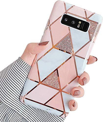 Sweau Handyhülle Galaxy Note 9,Hülle Galaxy Note 9 Marmor Muster,Hohe Qualität Weich TPU Stoßfest Hülle,Anti-Fingerabdruck,Anti-Kratzen,Kompatibel mit Samsung Galaxy Note 9, 01