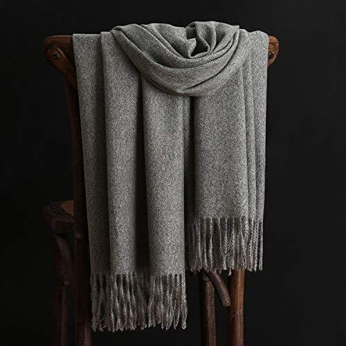 Alvnd Warmer einfarbiger Kaninchenfell-Schal Weicher luxuriöser Winter-Schal for Männer Frauen, 78,7 Zoll x 26,7 Zoll (Color : Colour 9, Size : 200CM)