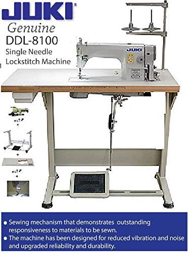 Juki DDL-8100 Economy Straight Stitch Industrial Sewing w/servo motor, DDL-8700 table cut,lamp. DIY.