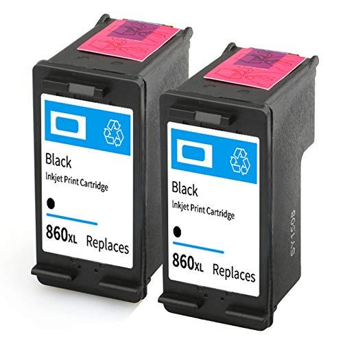 Cartucho de tinta 860XL 861XL, repuesto para impresoras HP Deskjet D4268 C4488 C4588 OfficeJet J5725 Cartuchos de tinta compatibles con negro y tricolor negro y negro