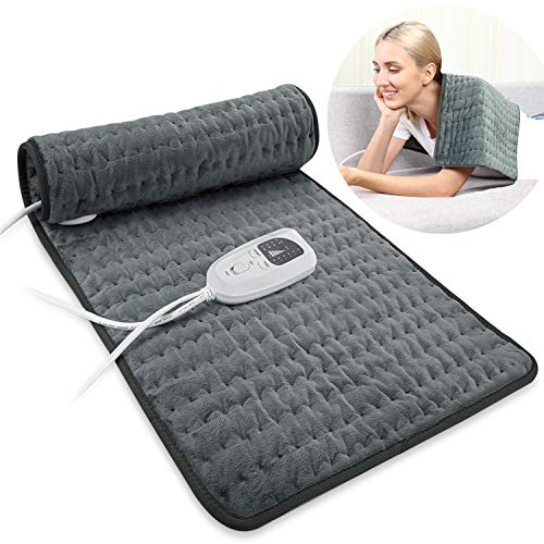 Dekugaa Heating Pad, Electric Heating Pad for Back Pain Muscle Pain - Dry & Moist Heat Option - Multiple Temp and Timer Settings - Auto Shut Off Function,Size 12' x 24' Hot Heated Pad