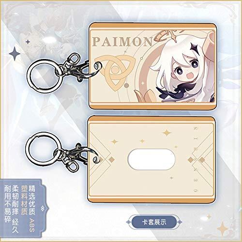 Llavero personalizado con diseño de anime para estudiantes, autobús o para tarjetas, caja de regalo para cosplay (color 2)