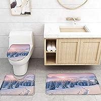 ZGDPBYF 浴室用アップホームバスマット白い雪の森の雲プリントバスマットシャワーフロア用カーペットバスタブマット