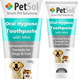 PetSol Pasta de Dientes para Perros y Gatos. Mejora la Salud de Las encías y los Dientes. Refresca el Aliento Elimina y Reduce la Placa y Tartar. Fresh Breath Dental Care Limpieza de Dientes (Menta)
