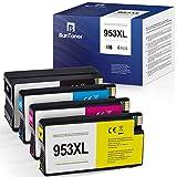 BunToner - Cartuchos de tinta compatibles con HP 953XL para HP OfficeJet Pro 8710 8715 8720 HP OfficeJet Pro 7720 7730 8725 8730 8210 AIO (negro, cian, magenta, amarillo)