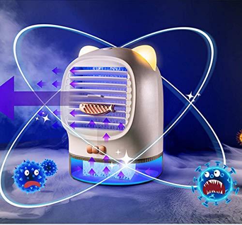 Dlmk Mini Refrigerador De Aire Acondicionado Portátil Lucky Cat USB De Carga Aromaterapia Humidificador Purificador Luz De Noche Escritorio Escritorio Esterilización Ventilador De Aire Ventilador