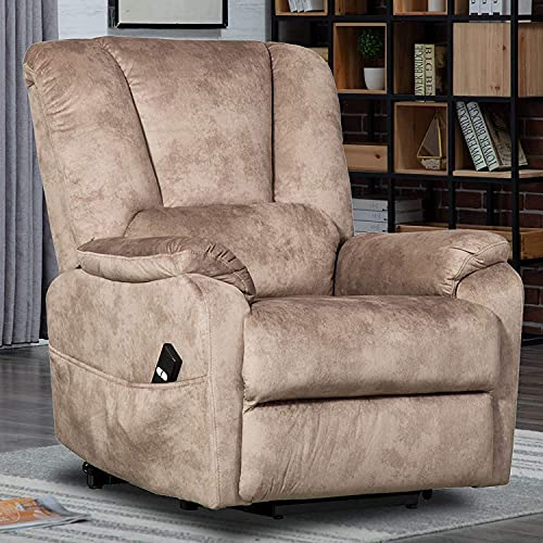 CANMOV Power Lift Chair Recliners for Elderly, Electric Recliner Antiskid Fabric...