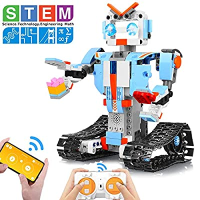AOKESI Building Block Robot Kits for Kids Remote & APP Control Robot Toys Engineering Science STEM Building Toys for 8,9-12 Year Old Boys and Girls from AOKESI