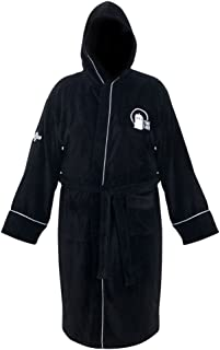 Robe Factory Doctor Who Time Lord Hooded Black Cotton Bath Robe, One Size Fits Most