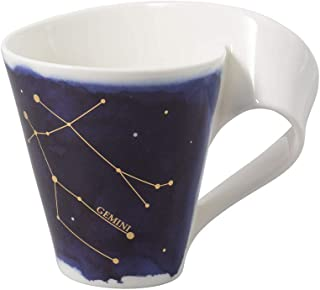 Villeroy & Boch 10-1616-5815 NewWave Stars Mug avec Anse, Tasse élégante à Motif Gémeaux, Porcelaine Premium, adapté au La...