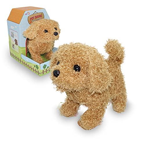 JUGUETECNIC │ Il mio primo cane robot di peluche │ Abbaia, cammina, si sdraia e scodinzola