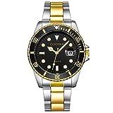 Caixiaofei 腕時計 メンズ腕時計 薄型 シンプル カジュアル ファッション ユニセックス 軽量 メッシュバンド アナログクオーツ 時計 人気 宴会 ブラック 腕時計、腕時計 メンズ アナログ ファッションクォーツ時計 誕生日 プレゼント 男女兼用