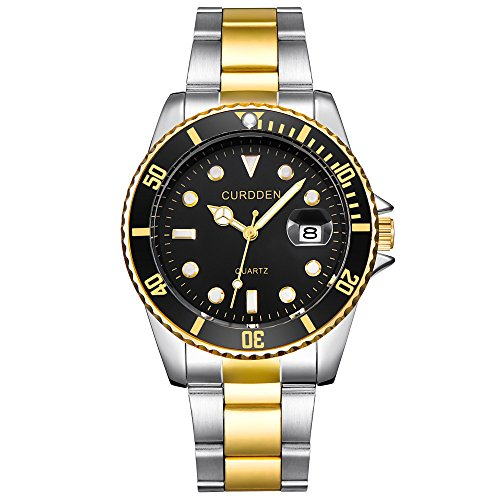 Challeng Herrenuhr Damenuhr Militär-Edelstahl-Datums-Sport-Quarz-Analoge Armbanduhr Wasserdicht Elegante Uhr