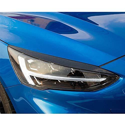 DHFBS Auto koolstofvezel stijl koplamp wenkbrauw cover interieurstickers auto exterieur koplamp accessoires, voor Ford Focus 2019 2020
