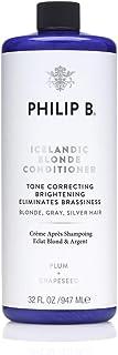 Philip B Icelandic Blonde Deep Conditioner (Tone Correcting Brightening Eliminates Brassiness - Blonde, Gray, Silver Hair)...