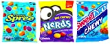Chewy Candy Variety Pack of 3 – Chewy Spree (7 Ounce), Big Chewy Nerds (6 Ounce), and Sweet Tarts Mini Chewy (6 Ounce)