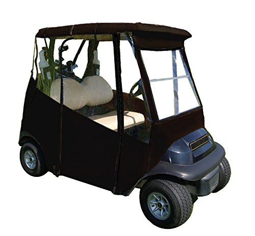 4-Sided Universal Portable Drivable Golf Cart Cover (Jet Black)