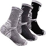 Hiking Socks Walking Socks For Men, FEIDEER 3-pack Outdoor Recreation Socks Moisture Wicking Crew Socks(19103-XL)