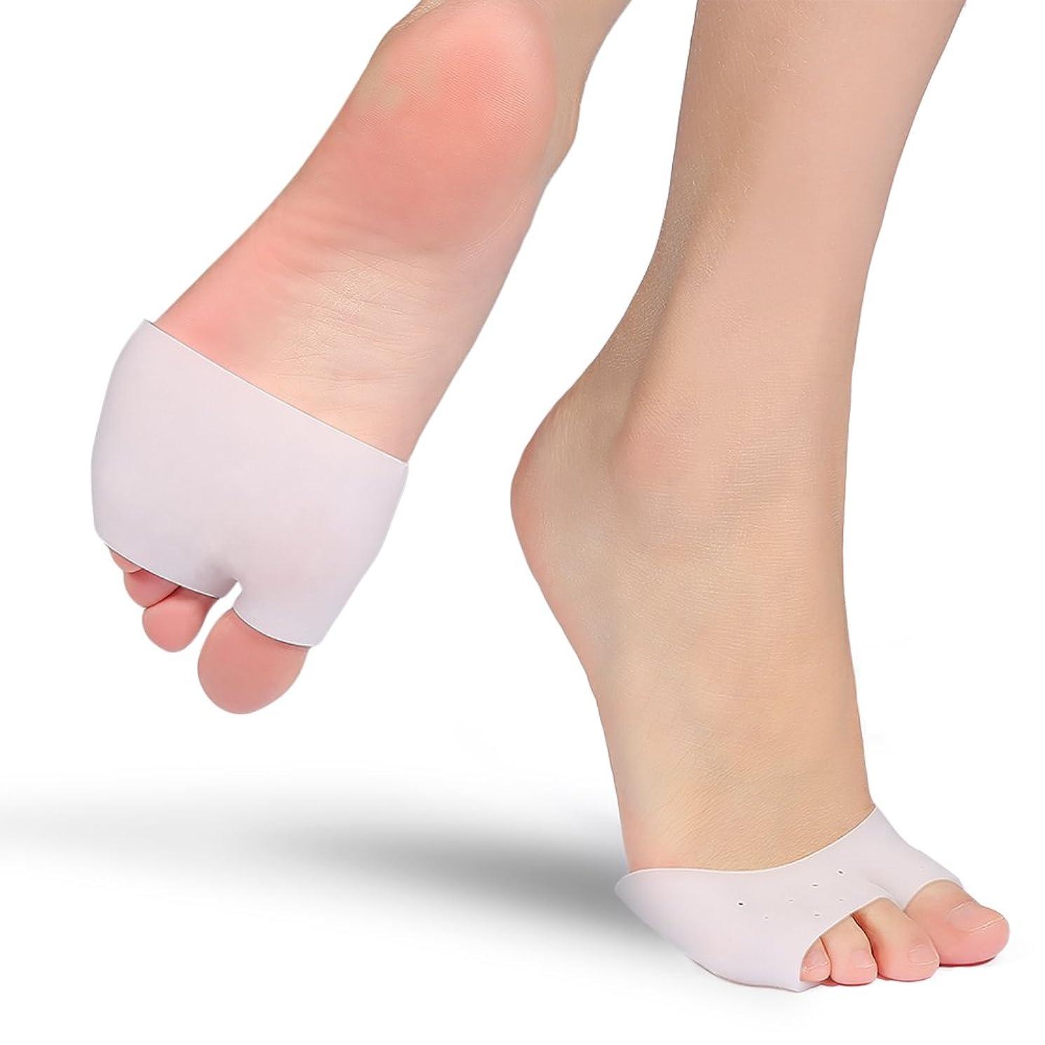 手伝う締め切り何もない腱膜矯正パッドゲル2足ボールの前足の足の裏の中足のサポート神経腫の痛みを軽減するためのインソール