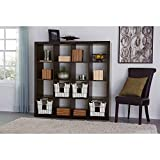 Versatile Better Homes and Gardens 16-Cube Storage Organizer, Espresso