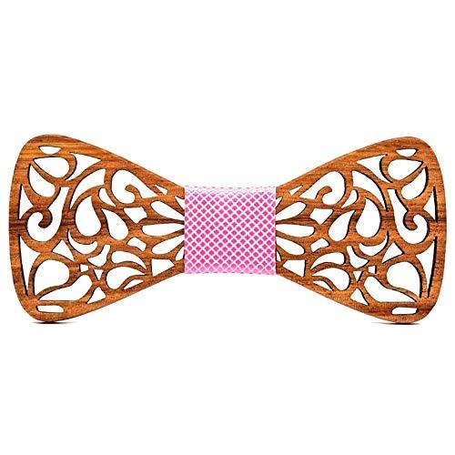BOBIJOO Jewelry - La Pajarita de Madera Oscura Bigote, Hecho a Mano, el Hombre-en-la Elección de la Corbata de Caballero - Ajustable, N09
