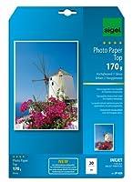 Sigel ip659インクジェットTopフォト用紙、光沢、114.9ポンド、a4、20シート