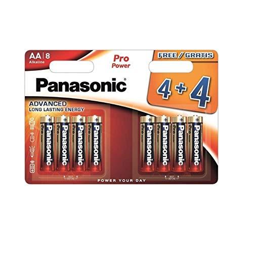 Panasonic Pro Power Batterie AA 4+4 Alkalin 1.5V, Nicht wiederaufladbar