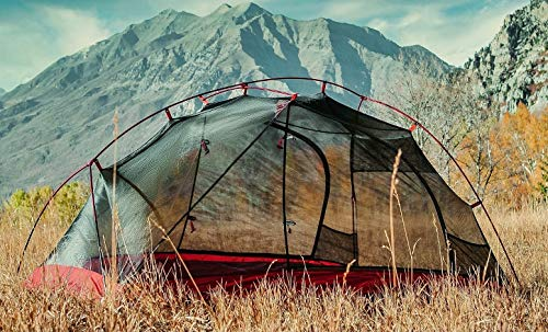 Ultralight 3.3 Pound Backpacking 2 Person Tent - 3 Season, Freestanding 2 Doors with Rainfly, 5 Internal Storage Pockets, Waterproof Seam Sealed, Easy Setup Camping Tent