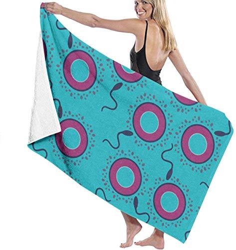 surce strandhanddoek sperma ei condoom badhanddoek klassieke draagbare lichtgewicht compacte handdoeken met hoge absorptie Ultra pluche en zachte 31x51 inch