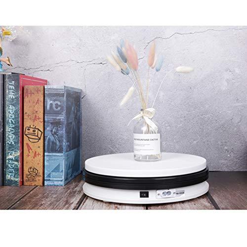 YSJX 15cm Base Giratoria Eléctrica Expositor de Joyas Giratorio de 360 °,para Figuras Adornos Joyas,Reloj,Champú,con 4 Espaciadores