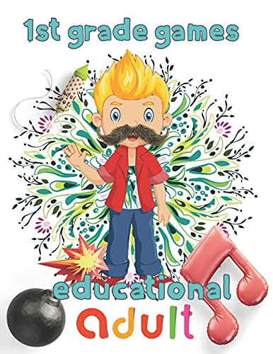 1st Grade games educational adult: 8.5''x11''/1st grade math