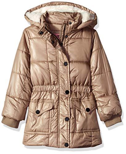 Urban Republic Little Girls Puffer Poly Polyfill Jacket, Gold, 5/6