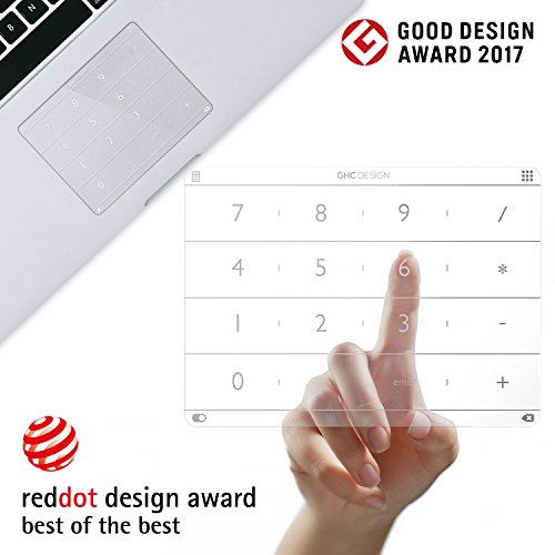 Nums Numeric Keypad for MacBook, Wireless Number Pad Calculator, App/Web/Folder Swift Launch Funtion, Trackpad Protector for MacBook 12'' USB-C Version