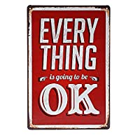 everything ok 金属板ブリキ看板警告サイン注意サイン表示パネル情報サイン金属安全サイン