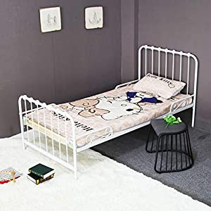 Cama Plegable Cama De Madera Sábanas Duras Hogar Para Adultos Apartamento Alquiler Habitación Cama Simple Con Marco De Hierro Con Barandilla