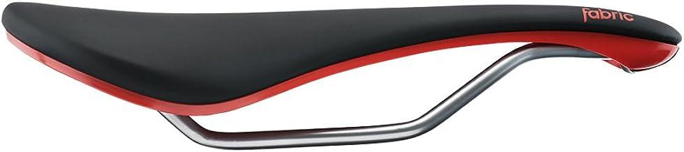 Fabric Line Elite Shallow Saddle: Black/Red 134mm