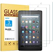 [3 Pack] Screen Protector for Fire 7 Tablet/Fire 7 Kids Edition(9th/7th Gen), apiker High Definition Tempered Glass Screen Protector Fit All-New Kindle Fire 7/Fire 7 Kids Edition