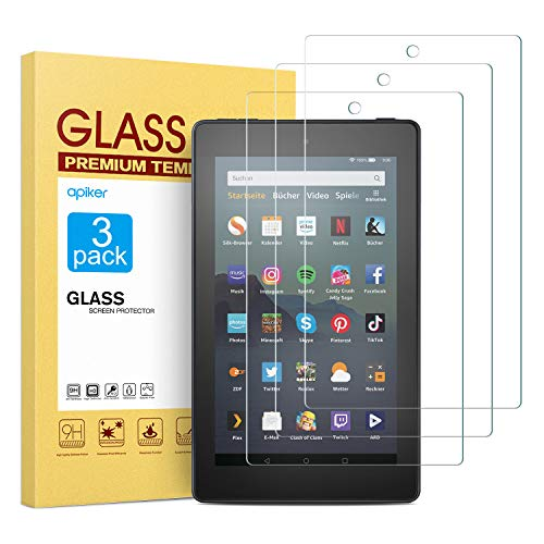 Great Price! [3 Pack] Screen Protector for Fire 7 Tablet/Fire 7 Kids Edition(9th/7th Gen), apiker Hi...