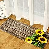 Geométrico madera grano cocina estera salón piso estera puerta entrada antideslizante alfombra bienvenida NO.18 40X120cm