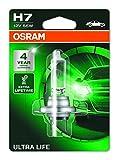 OSRAM ULTRA LIFE H7, Lampe de phare halogène, 64210ULT-01B, blister individuel (1 pièce)