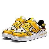 JIWEIRUN Zapatillas de Deporte Pikachu para niños Zapatillas Deportivas Informales Antideslizantes para Exteriores para niños Zapatillas para Caminar,Yellow-37 EU