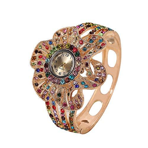 Relojes de Pulsera Mujer Niñas,Personalidad Diamantes de Imitación Lujo Pulseras Relojes de...