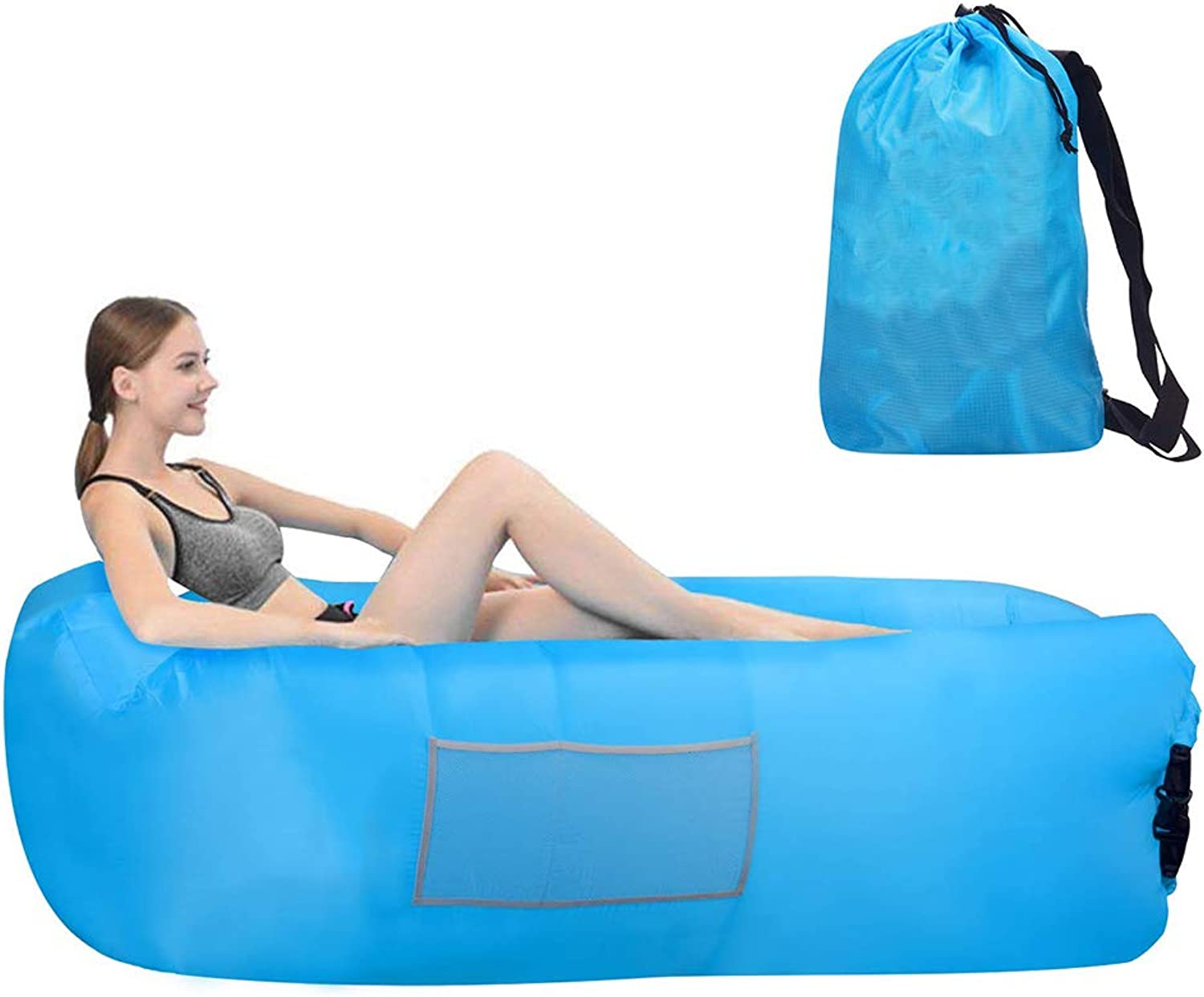 Outdoor Inflatable Sofa,Waterproof Lightweight and Easy to Clean Inflatable Sofa Suitable for Beach Camping Hiking and Swimming