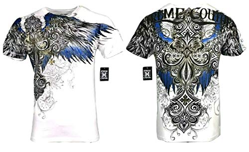 Xtreme Couture by Affliction Men T-Shirt Ensign Tattoo Biker MMA Gym S-4X $40 (4XL) White
