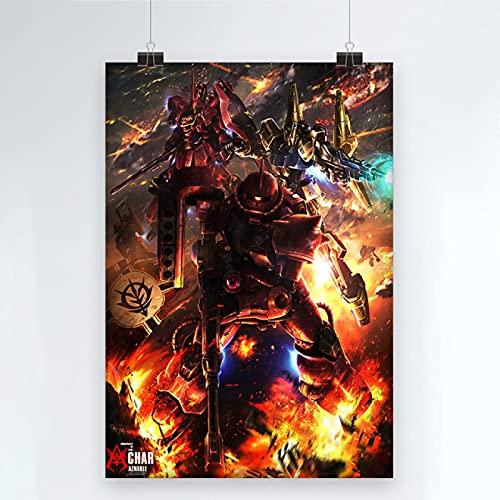 Yiwuyishi Impresión en Lienzo Gundam Warrior Imágenes HD Arte de Pared Clásico Japón Anime Pintura Decoración para el hogar Póster para Sala de Estar 50x70cm P-1262