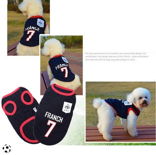 [France] Lovely Dog Apparel Pet Vêtements pour animal domestique de football Vêtements, taille XL
