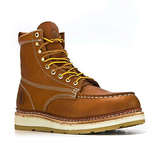 Product Image of the ROCKROOSTER Men's Comfortable Work Boots Non-Slip Wide Casual Shoes, Oil Resistant, Poron XRD, Coolmax, ASTM F2892-18 EH, Anti-Fatigue(AP611-US14) Brown…
