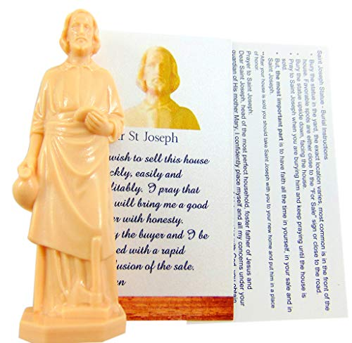 St Joseph Statue for Selling Homes with Card and House Prayer Complete Set