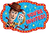 amscan 'Toy Story 4' Blue and Red Party Postcard Invitations, 4.25' x 6.25', 8 Ct., 480018