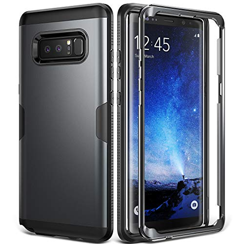 Galaxy Note 8 Case, YOUMAKER Metallic Black Full Body...